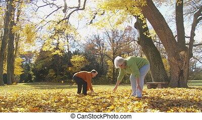 seniors playing like children