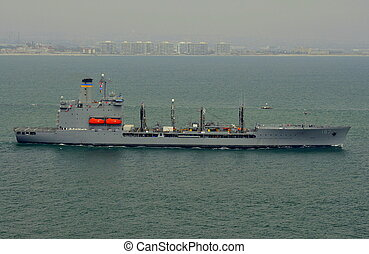 USNS Henry J Kaiser T-AO-187 - The US Navy Fleet Oiler Henry...