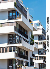 Modern white townhouses in Berlin - Modern white townhouses...