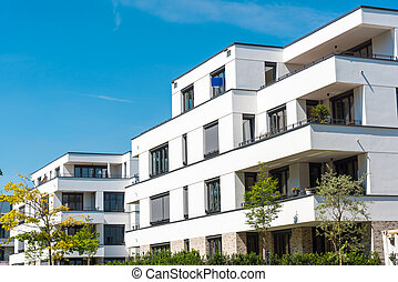 White modern townhouses in Germany - White modern townhouses...