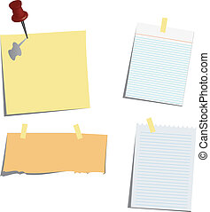 various note papers