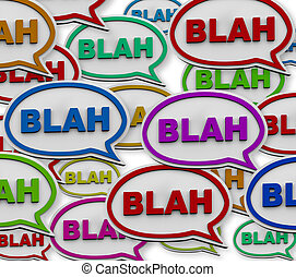 Blah - Speech Bubble Background - Many colorful speech...