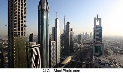 Dubai skyscrapers - skyline at dayl - dubai architecture