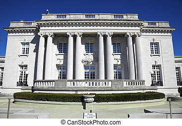 Governors Mansion in Frankfort, Kentucky State Capitol...