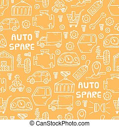 auto spare parts pattern - Auto spare parts seamless...