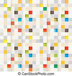Square Background. Vector Seamless Little Squares. Pixel Grid Squares Retro Pattern.