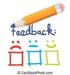 Feedback Icon with Pencil