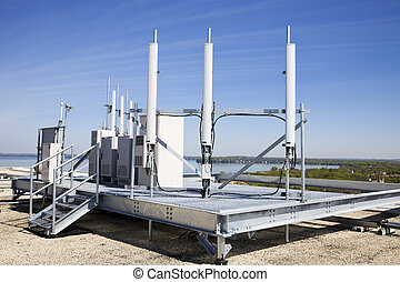 Cellular equipment on the roof - Cellular equipment on...