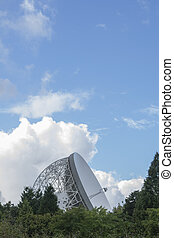 Jodrell Bank Observatory, Cheshire, UK. The Lovell...