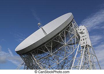 Jodrell Bank Observatory, Cheshire, UK. The Lovell...