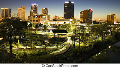 Night in Little Rock, Arkansas