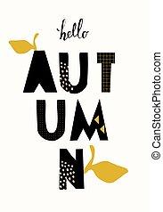 Typographic Autumn Design