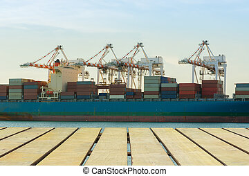 Cargo shipping industry of economy growing.