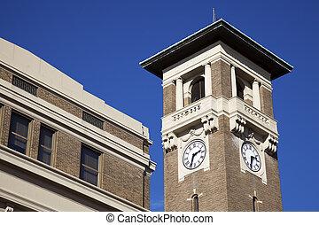Clock tower in Little Rock