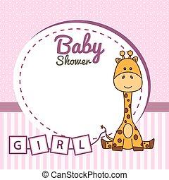 Frame baby giraffe