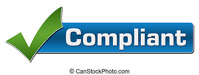 Compliant Blue With Green Tickmark - Compliant text written...