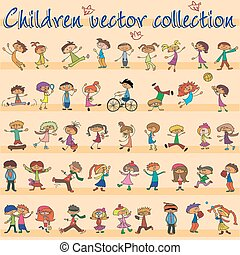 Collection of children vector. EPS10