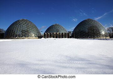 Domes in Milwaukee, Wisconsin, USA