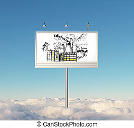 Billboard with infrastructure sketch