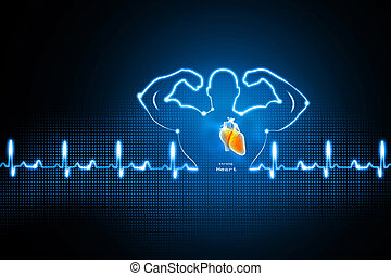 Healthy heart background