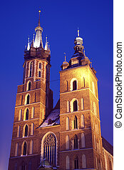 St. Mary\'s Church in Krakow, Poland.