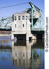 Details of Historic bridge in Joliet - Details of Historic...