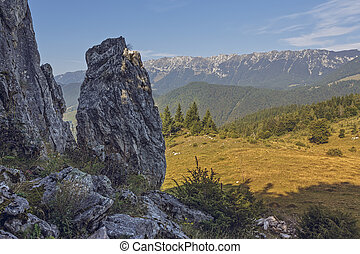 Romanian travel destinations - Scenic alpine view with...