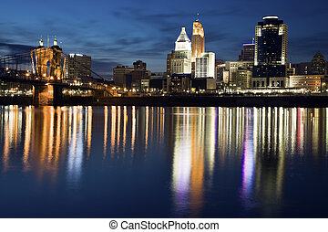 Cincinnati - seen just after sunset.