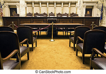 Court Room - Court Room in State Capitol Building - Madison,...