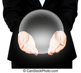 Hand holding a crystal Ball (hands)