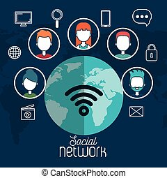 social network global world internet media