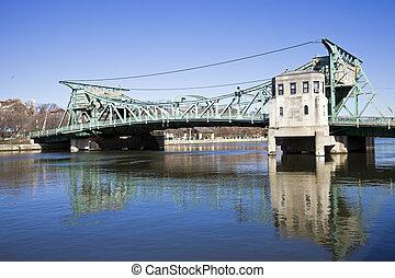 Historic bridge in Joliet, Illinois.