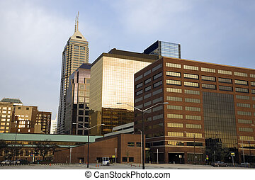 Indianapolis in the morning - Indianapolis, Indiana in the...