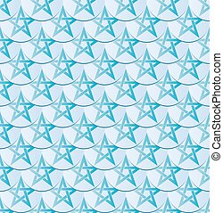 pentagram - seamless pattern with shape of pentagram