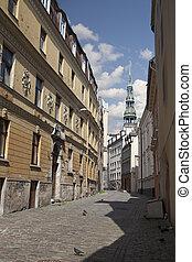 Old Riga streets, Latvia - Cityscape of old Riga streets...