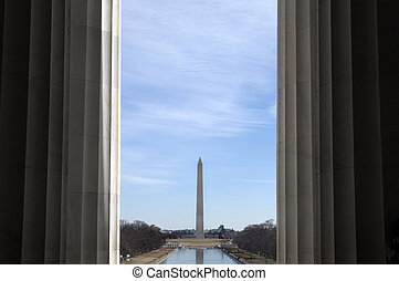 Washington Monument - Interesting view of the washington...