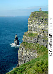Cliffs of Moher - Cliffs of moher in Ireland showing...