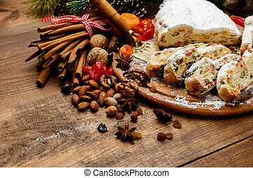traditional German cake Dresdner stollen - traditional...