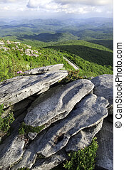 Blue Ridge Parkway - Beautiful view looking down on the Blue...