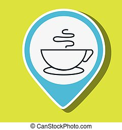 cup coffee hot smoke vector illustration eps 10