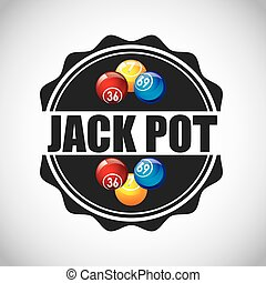 jack pot casino game icon vector illustration design