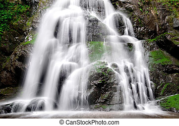Spruce Flat Falls - Detail of Beautiful Spruce Flat Falls in...