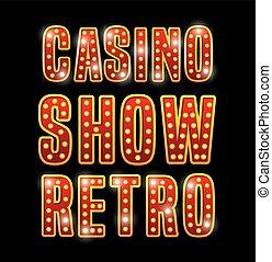 Notice spectacular casino icon vector illustration design