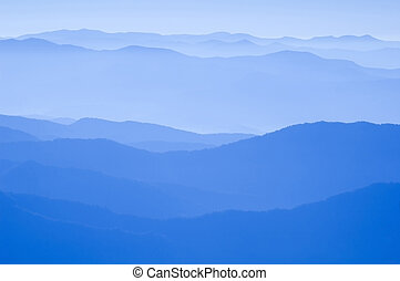 Blue Ridge Mountains - View from Clingmans Dome, Great Smoky...
