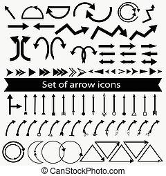 矢量, 集合, 箭, 圖象