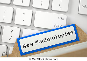 Card Index with New Technologies. 3D. - New Technologies...