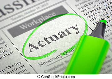 Job Opening Actuary. 3D. - Actuary - Small Ads of Job Search...