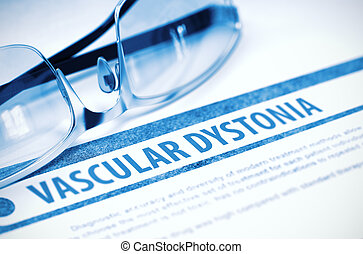 Vascular Dystonia. Medicine. 3D Illustration. - Vascular...