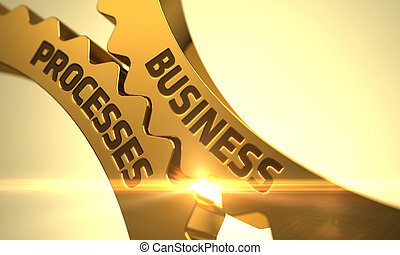 Business Processes on the Golden Cog Gears. 3D. - Business...