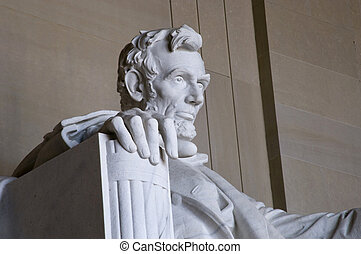 Lincoln memorial - Abraham Lincoln Statue at the Lincoln...